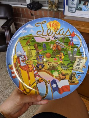 Photo Vintage McDonalds Collectors Plate: Ronald McDonald 2003 Texas Sun Coast