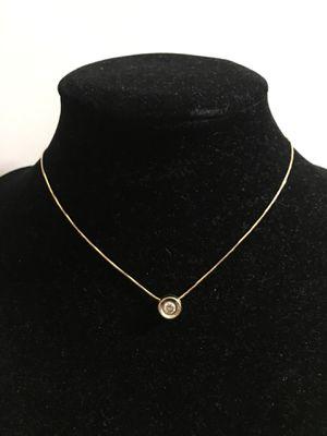 14k diamond bezel necklace for Sale in Alexandria, VA