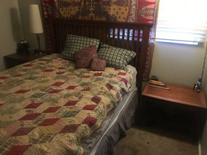 Headboard and bed set for Sale in Salt Lake City, UT