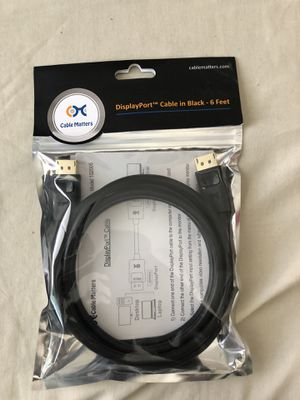 6 ft. DisplayPort Cable for Sale in Victorville, CA