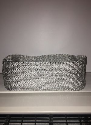 Silver storage basket for Sale in New York, NY
