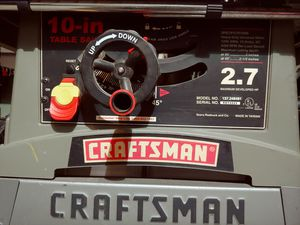 Photo Craftsman 10 inch table saw