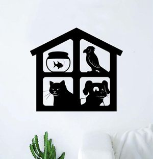 PRE MADE Wall Decal Home Decor Pet House Vet Cat Dog Fish Bird Animals for Sale in Carson, CA