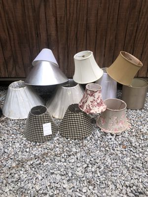Lamp shades all different sizes & colors 2$ each for Sale in Villa Rica, GA
