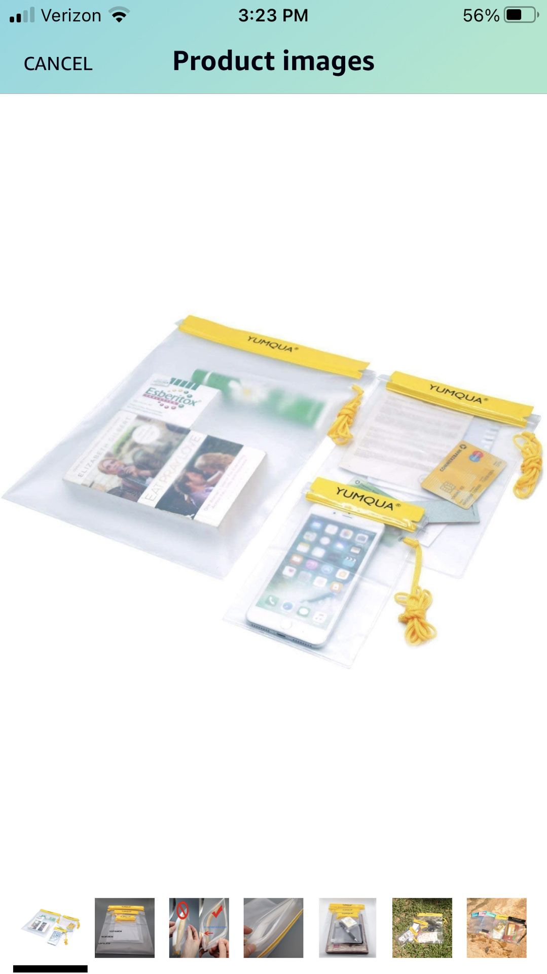 YUMQUA Clear Waterproof Bags, Water Tight Cases Pouch Dry Bags for Camera Mobile Phone Maps Pouch Kayak Military Boating Document Holder