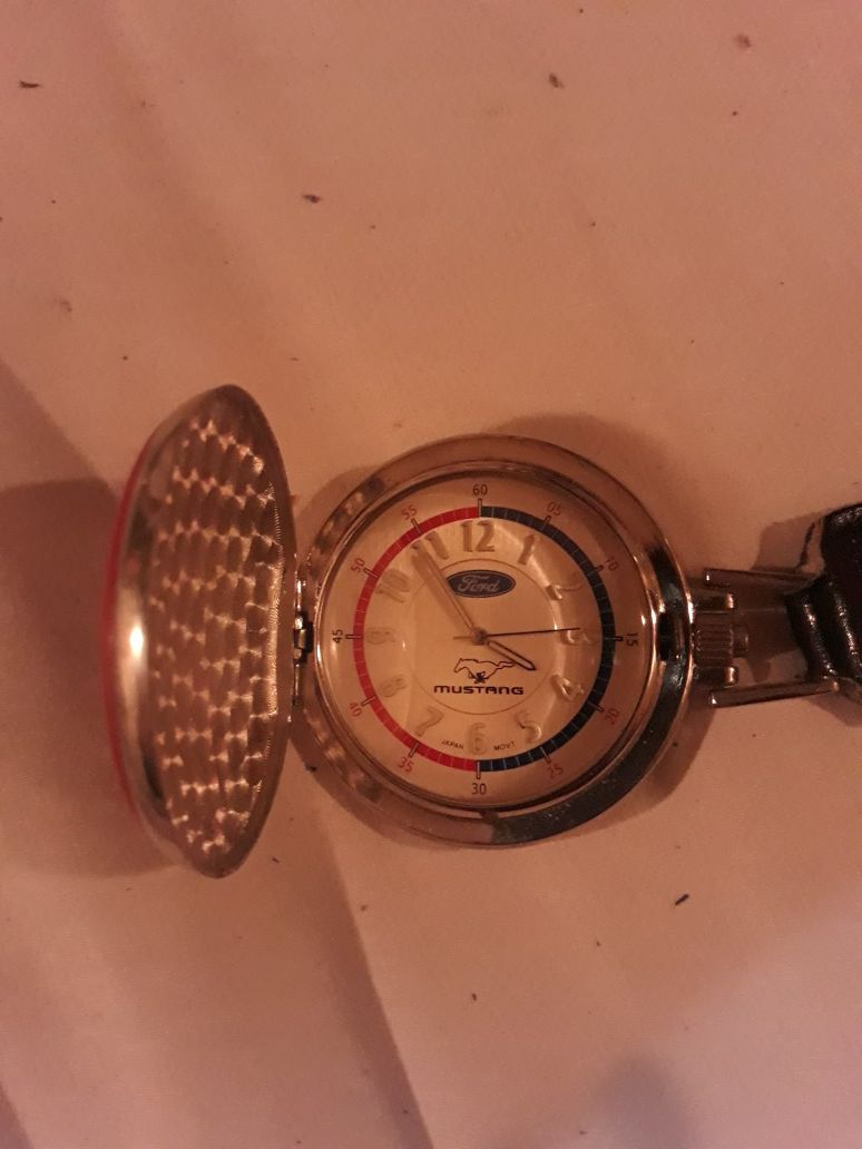 Ford Mustang pocket watch