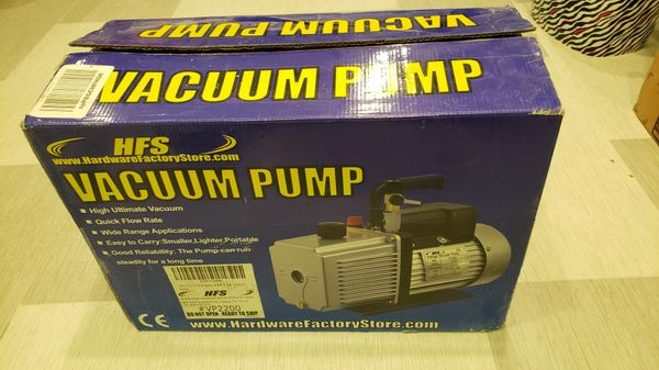 HFS vacuum pump 12cfm 2 stage 1 HP HVAC for Sale in Staten Island, NY -  OfferUp