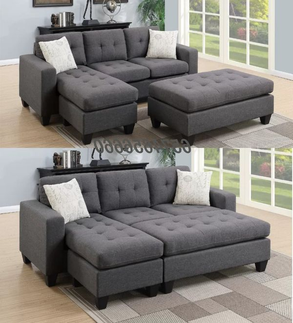 Grey sectional sofa bed sleeper couch for Sale in Riverside, CA - OfferUp