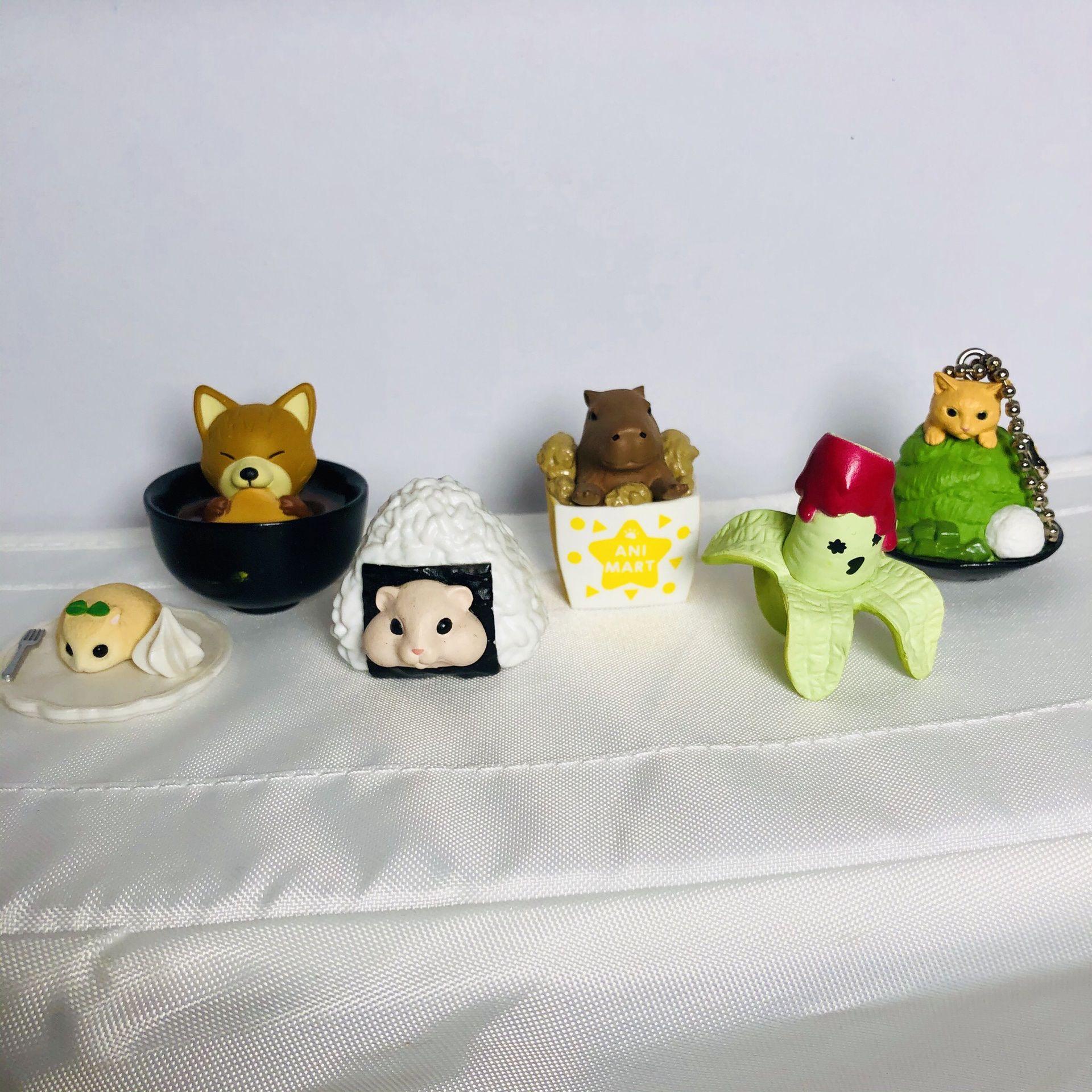 Gashapon Food Animal Toys Random Set