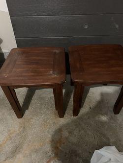 Brown end tables Thumbnail
