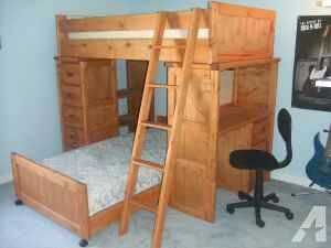 Bunk Bed Loft w/ Dresser and Desk for Sale in Chesterfield, VA
