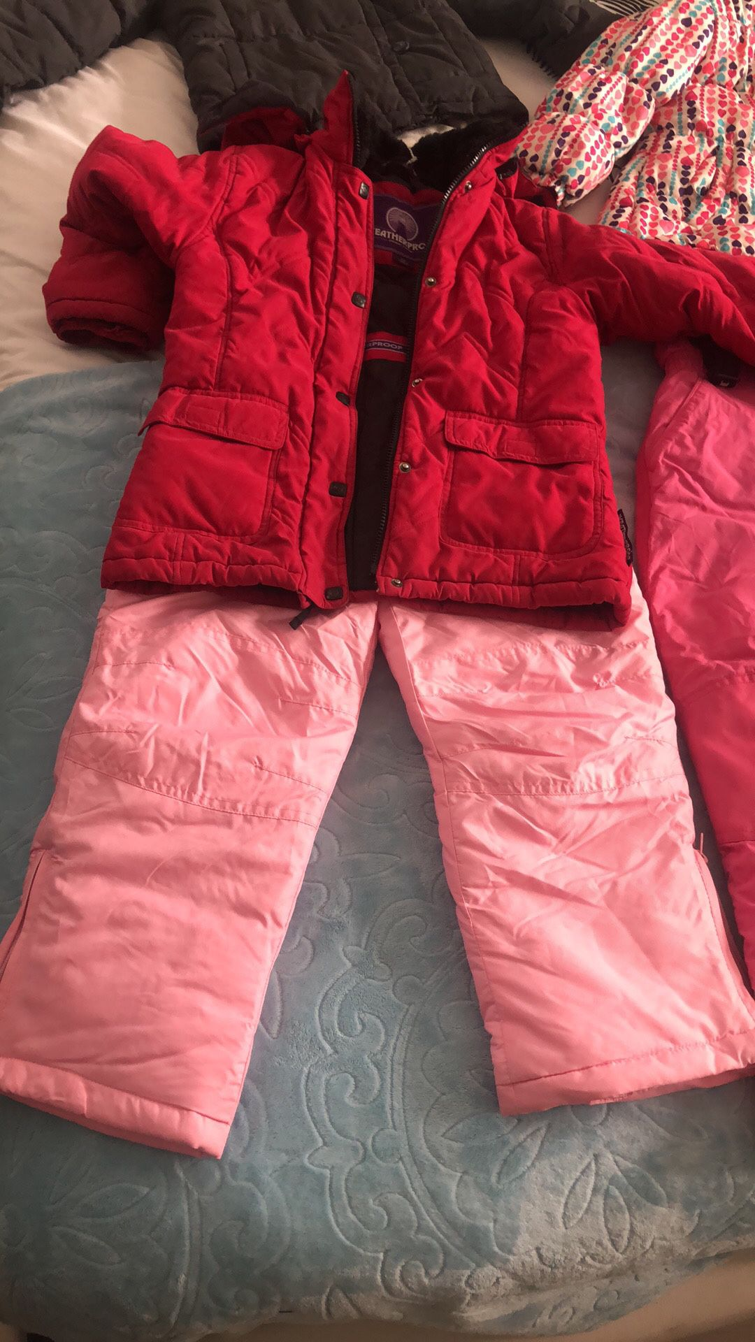 Snow bibs jackets boots any size for kids and adults