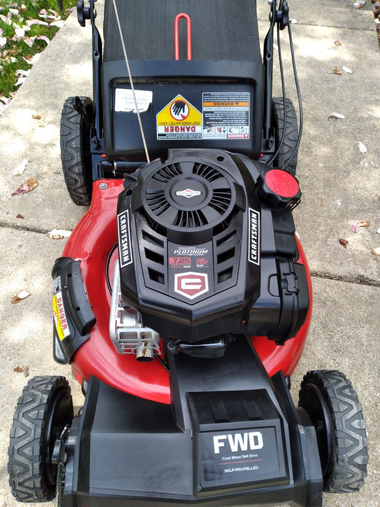 "Craftsman Platinum 21"" Inch Self Propelled Lawnmower W/Bag"