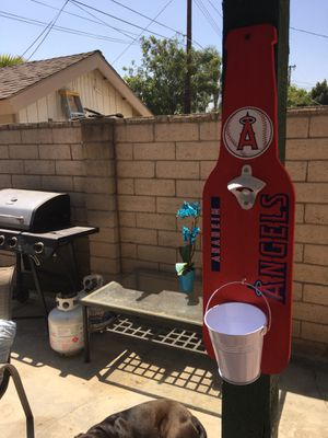 Anaheim Angels beer bottle opener angels beer bottle opener angels beer opener angels flag ducks flag chargers flag Outdoor furniture for Sale in Fullerton, CA