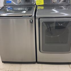 Used Top Load Washer And Dryer With Warranty Works Perfectly  Thumbnail