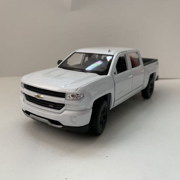 New Large 2017 White Chevy Silverado Pickup Truck Car Toy