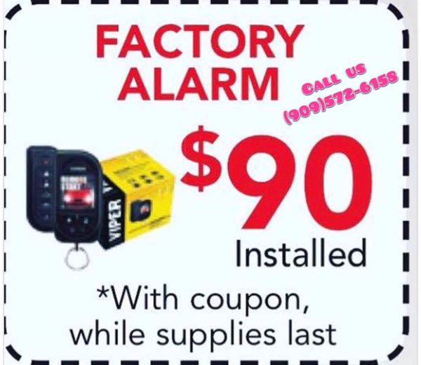 CAR ALARM $90 INSTALLED LIFETIME WARRANTY PROTECT U CAR