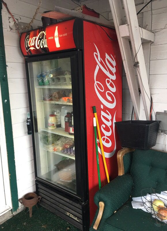True Gdm 26 Used Commercial Single Door Glass Refrigerator Coca Cola For In Monmouth Or Offerup