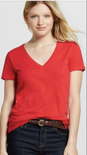 Red v-neck t-shirt for sale  Rogers, AR