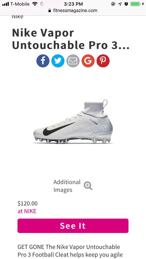 free shipping a501d 6a493 Nike Vapor Untouchable Pro 3 PRM Football Cleats
