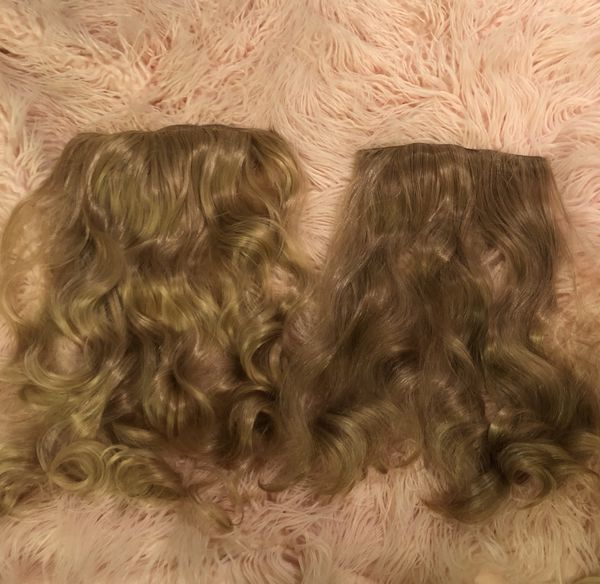 2 Piece Strawberry Blonde Clip In Hair Extensions For Sale In Mesa
