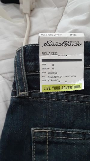 Eddie Bauer flannel lined relaxed fit jeans for Sale in Chapel Hill, NC