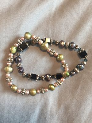 Pearl and Swarovski crystal stretch bracelets for Sale in Salt Lake City, UT