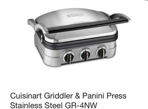 Cuisinart griddler & panini press for Sale in Denver, CO