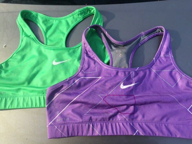 Two Nike sports bras