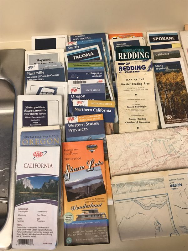Aaa California Map.Maps Aaa Tavel Maps Gas Station Map For Sale In Redding Ca Offerup