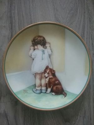 In Disgrace Child's Best Friend Collector Plate Bessie Pease Gutmann Puppy Dog for Sale in Seattle, WA
