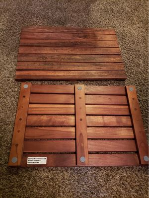 2 wooden spa and sauna footing or sitting boards for Sale in Fairmount Heights, MD