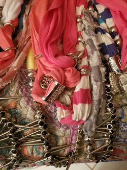 WHOLESALE PRICE - Jewelry Scarfs - $2 Each Thumbnail