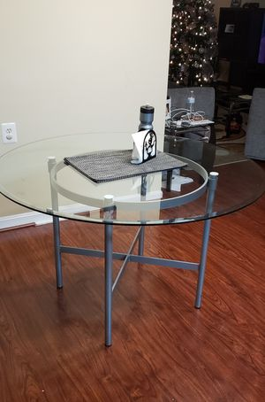 Glass table (dinning) for Sale in Alexandria, VA
