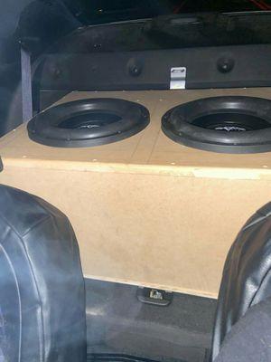 Photo Two skar EVL 2500w peak with 2500w power acoustik class d mono amp