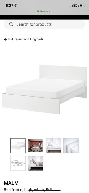 Photo Ikea White Bed Frame Full Size - PICKUP ONLY CENTER CITY