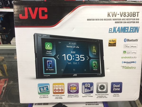 JVC KW-C830 bt car app play Android auto 6 8 inch screen three hours to see  a pre-out equalizer two zone Bluetooth hi res audio for Sale in San Diego,