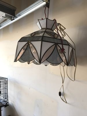 Antique stained glass dining lamp or bar lamp for Sale in Sellersville, PA