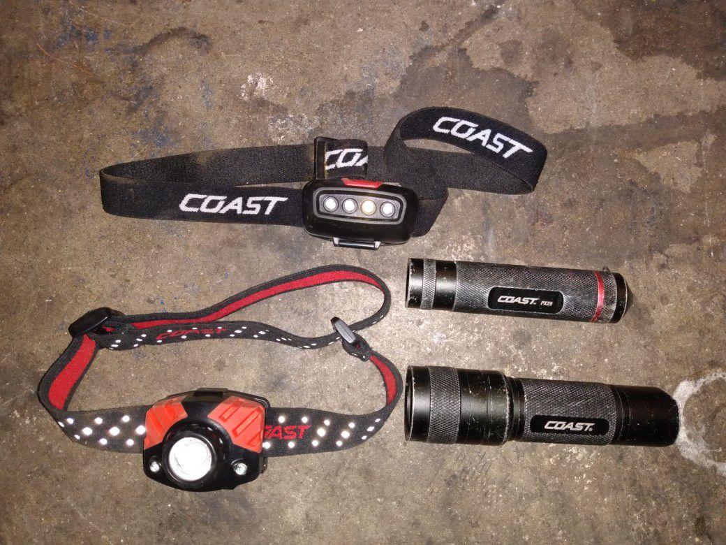 Coast LED Headlamp and Flashlight Lot