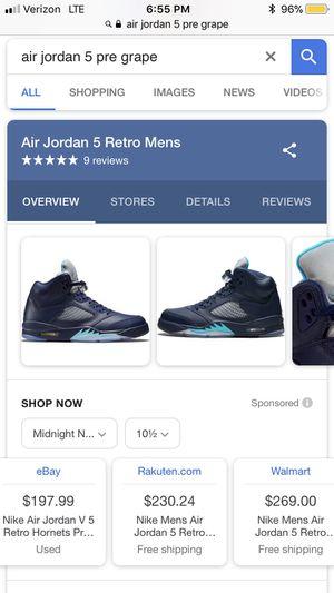 "56ac7792b51f Air Jordan 5 ""Pre-Grape"" Men s Size 11 for Sale in Miramar"