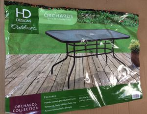 Photo HD designs outdoors large glass top patio table