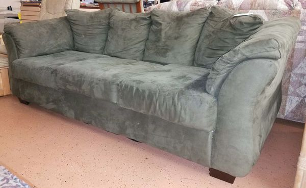 Peachy Dark Green Microfiber Sofa For Sale In Burlington Nj Offerup Pdpeps Interior Chair Design Pdpepsorg