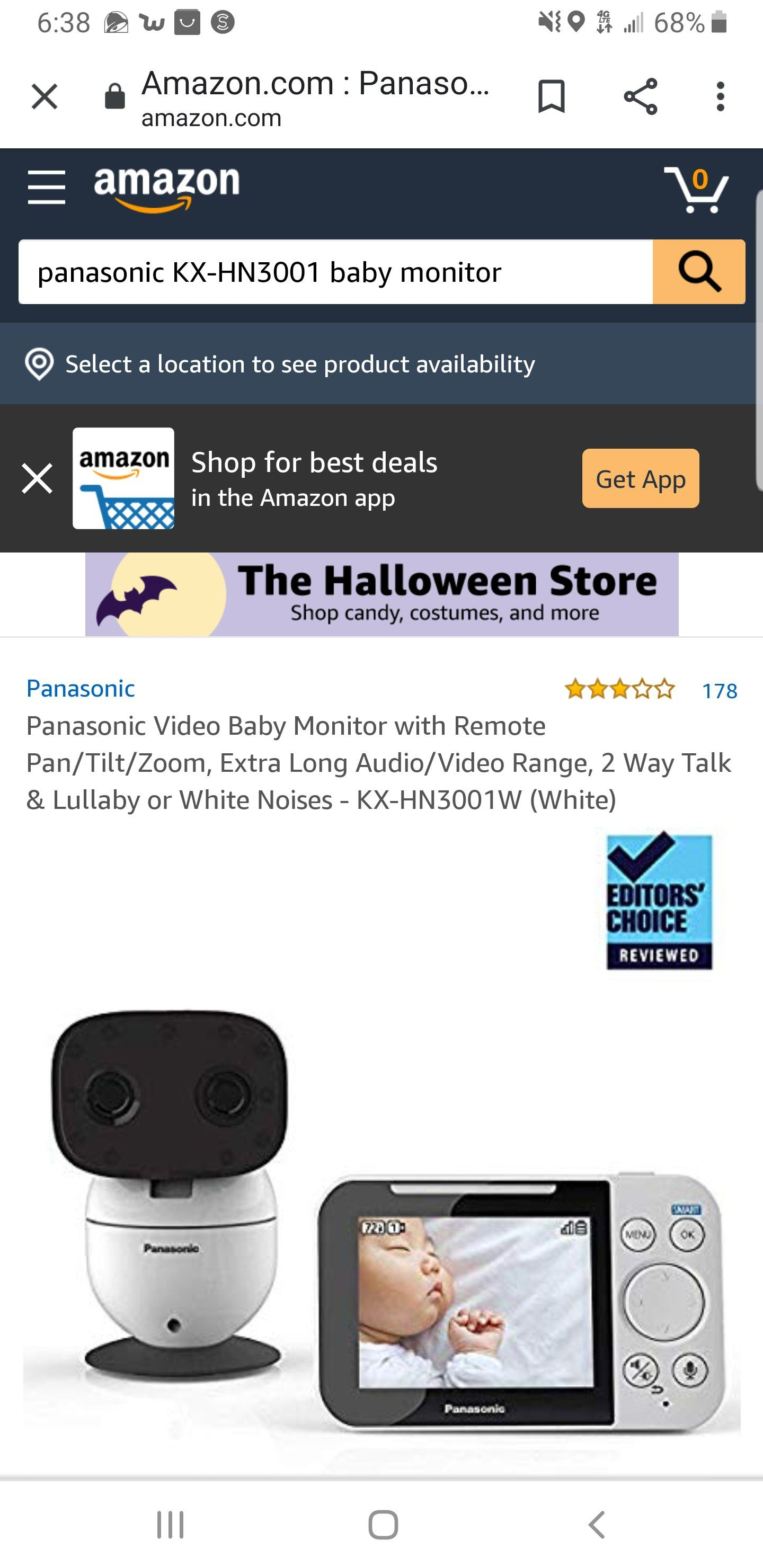 Panasonic KX-HN3001 Baby Monitor