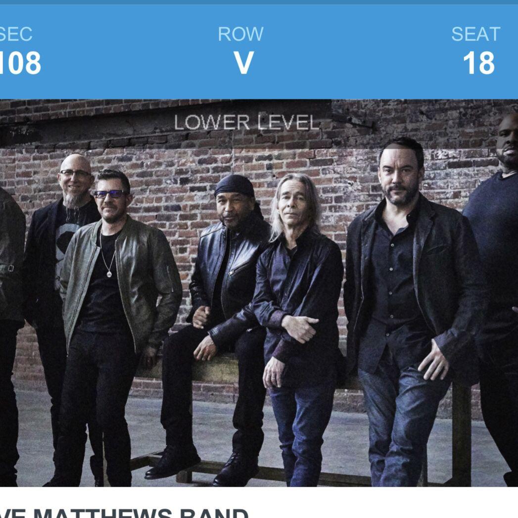 Concert Tickets——Dave Matthews Band