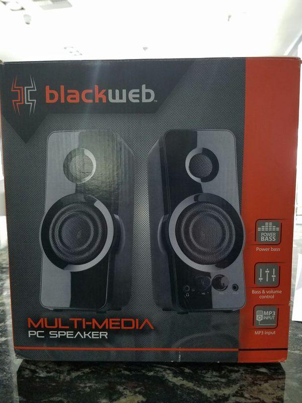 BLACKWEB MULTIMEDIA PC SPEAKER BWA15H0110 for Sale in Davie, FL - OfferUp
