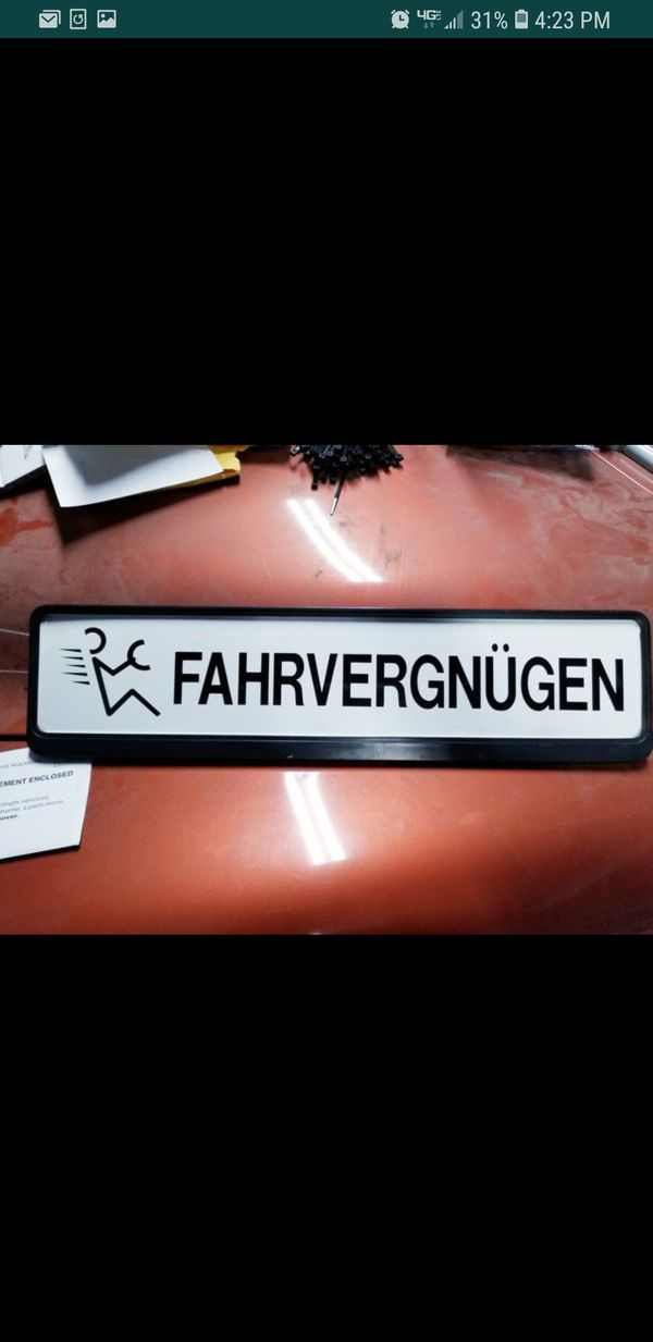 Fahrvergnugen Euro Lic Plate For Sale In Rialto Ca Offerup These frames are just a little bit bigger, and don't obscure the surface of the. fahrvergnugen euro lic plate for sale