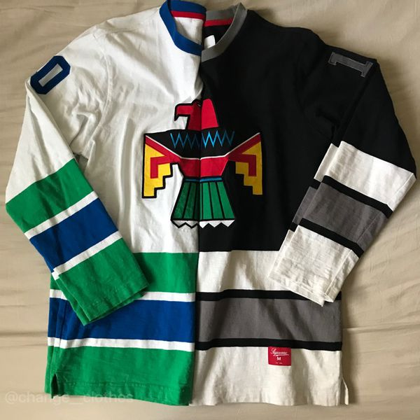Supreme Thunderbird Hockey Top Jersey White L for Sale in Tempe 7c0b76f0900