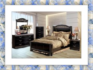 Black Ashley bedroom set free shipping for Sale in Hillcrest Heights, MD
