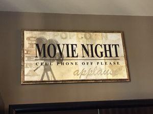 Movie night wall art for Sale in Dallas, TX