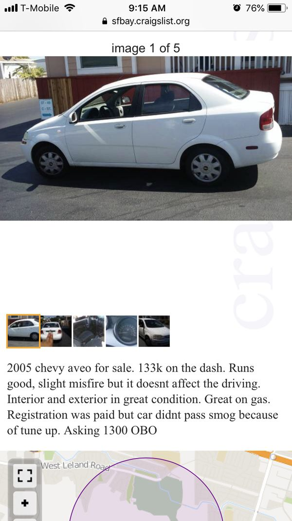 2005 Chevy Aveo For Sale In Pittsburg Ca Offerup